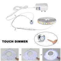 Touch Dimmer Switch 5050 LED Strip Light Tape DC 12V Waterproof Wardrobe Cabinet