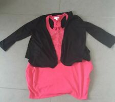 M&S Pink vest top with black bolero jacket - Age 11