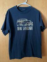 Men's Big Woody Black Size Large TShirt