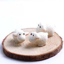 5PCS Garden Ornament Miniature Figurine Resin Sheeps Craft Plant Pots Fairy Deco