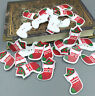 FREE Merry Christmas socks Wooden Buttons Fit Sewing Embellishments Craft 38mm