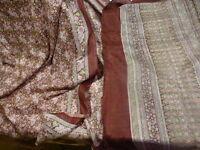 2m,70x1,12 superbe soie tissu pour sari ,robe,corsage,petites fleurs