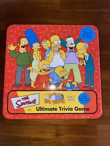 THE SIMPSONS ULTIMATE TRIVIA GAME COMPLETE
