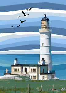 Corsewall Lighthouse Dumfries and Galloway Limited Art Print By Sarah Jane Holt