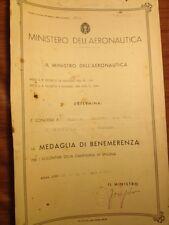 Regia aeronautica diploma medaglia guerra di spagna