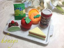 """For 15""""-18"""" Girl  Doll Pretend Play Mini Play Assortment Appetizing LUNCH TRAY"""