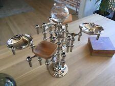 2 NAGEL BMF Teak Schalen Kerzenhalter Stecksystem 60/70er Jahre
