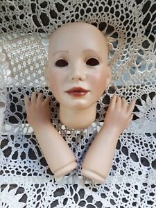 Large DOLL HEAD and Forearms hands Thelma Reech Reproduction JULIA 1996 PARTS