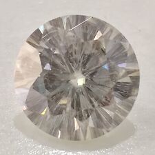 Round Cut Loose Moissanite Use 4 Ring 2.67 Ct 9.20 Mm I-123 Near White Excellent