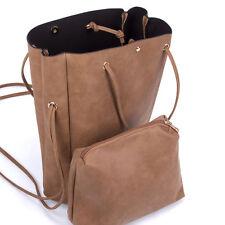 Womens Girl's Versatile Brown Large Tote Bag Handbag. New! Ship Free!