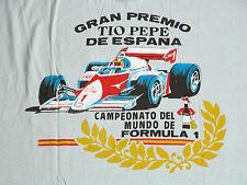 Vtg 80s Gran Premo Tio Pepe De Espana Pocket T Shirt Mens XL Spanish Grand Prix