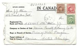 WW2 WWII Galt, ON > Casualty Retraining Centre, Harrison Hot Springs, BC 1943