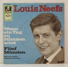 """7"""" Louis Neefs  Wenn ein Tag zu Minuten wird /Fünf Minuten  Columbie 1966"""