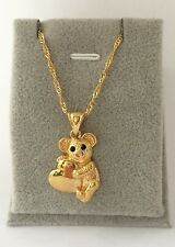 kid's 18k Gold  layered Panda Bear  pendant & Necklace 16'' Set