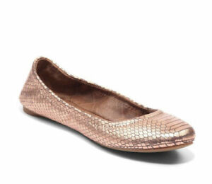 LUCKY BRAND Flats 10 Emmie Rose Gold Snake Print Elastic Comfort Shoes