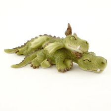 Miniature  Dragon Cuddling  Napping 4533 Fairy Garden Dragon