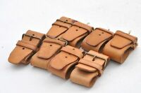 Authentic Louis Vuitton Leather Handle Holder 8 Set Beige LV 81409