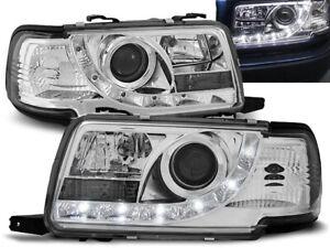 Headlights for Audi 80 B4 1991 1992 1993 1994 1995 1996 VR-1120 Daylight Chrome