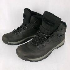 COLUMBIA Mens 12 Wide Black Hiking Boots Omni Grip