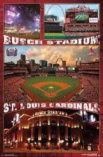 ST LOUIS CARDINALS - BUSCH STADIUM POSTER - 22x34 MLB BASEBALL 14615