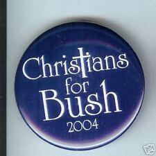 CHRISTIANS for Bush  2004 Cross pin