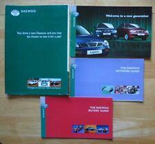 DAEWOO Range orig 1997 UK Market sales brochure set - Nubira Lanos Leganza