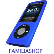 Housse etui coque silicone bleu iPod Nano 5 5G + Film