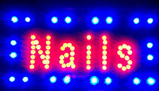 NAILS  LED lights sign flashing WITH  different colors -BRAND NEW