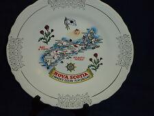 "9.25"" NOVA SCOTIA Canada Souvenir Collector's PLATE 22K gold trim"
