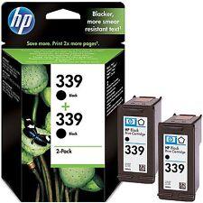 ORIGINAL PACK OF 2 HP 339 BLACK CARTRIDGES C8767EE FAST POSTAGE 2YEAR GUARANTEE