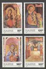 Zaire 1987 Christmas/Art/Madonna/Child 4v set (n21480)