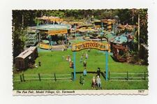 #S10 - 1960s 3d stamp - The funfair Model village Gt Yarmouth  Postcard