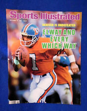 John Elway Sports Illustrated cover Oct. 86  Denver Broncos