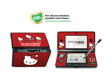 Hello Kitty Vinyl Skin Sticker for Nintendo 3DS - Red