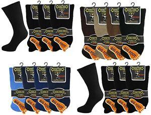 Mens Big Foot Extra Wide Socks Non Elastic Diabetic Oedema 3-12 Pairs 11-14 Work