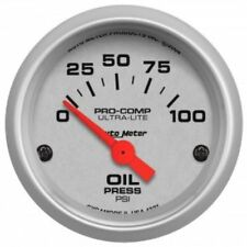 "Auto Meter 4327 2-1/16"" Ultra-Lite Electric Oil Pressure Gauge, 0-100 PSI"
