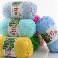Hot 55 colours Soft Bamboo Crochet Yarn Cotton 50g Knitting Yarn Baby Knit Wool