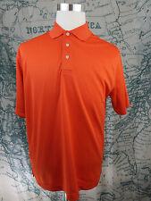 PGA Tour Men's Polo Short Sleeve Golf Shirt - Orange Polyester Size Lg - I761a
