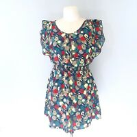 Forever 21 Womens Floral Multicolor Sheer Blouse Size M