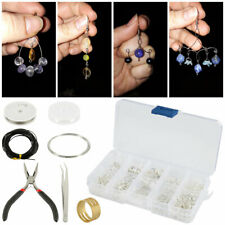 Beads Finding Set Pliers Silver Tool Jewellery Making Kit Set DIY Wire Starter