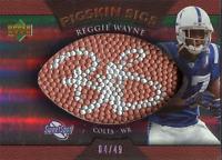 Reggie Wayne Autographed 2007 Upper Deck Pigskin Sigs Card