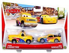 Disney World of Cars WGP 5 & 6 of 15 John Lassetire Jeff Gorvette Diecast Set!