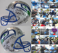 SEATTLE SEAHAWKS,LEGENDS,SIGNED,AUTOGRAPHED,FULL SIZE FOOTBALL HELMET,COA,PROOF.
