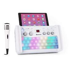 auna DiscoFever LED  karaoke Set Bluetooth   Incluye  CD+G y micrófono Soporte
