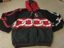 CROOKS & CASTLES THICK CHAIN HOODY JACKET RED GREEN BLACK LARGE L supreme palace