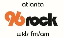 Two (2) 96 Rock Atlanta Sticker Decal 3 inches tall X 5 inches wide