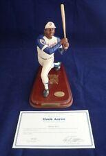 Hank Aaron Danbury Mint Figurine W/ Certificate Milwaukee Brewers