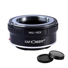 K&F concepto Adaptador para M42 Tornillo Lente de cámara de montaje para Sony E NEX a7R2 A73 A7R3