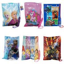 Kids Character Swimming Bag Gym Bag Pump Bag Sports School Drawstring Boys Girls