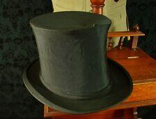 Callapsable folding vtg opera top hat by walter barnard & son 56 6 7/8
